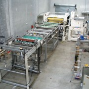The rebuilt conveyor is moved into the knife in it's operational location